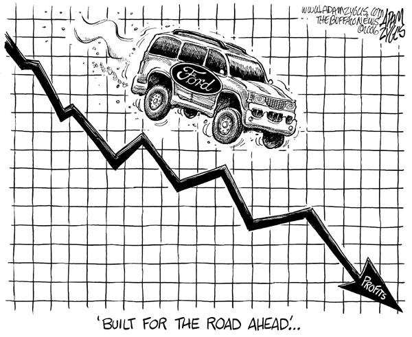 ford, profits, road ahead