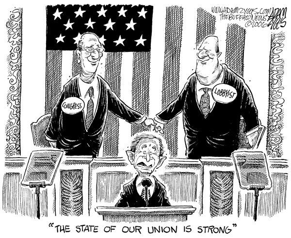 bush, state of the union, lobyists, corruption