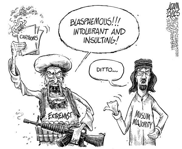 muhammad cartoons, muslim majority, extremists