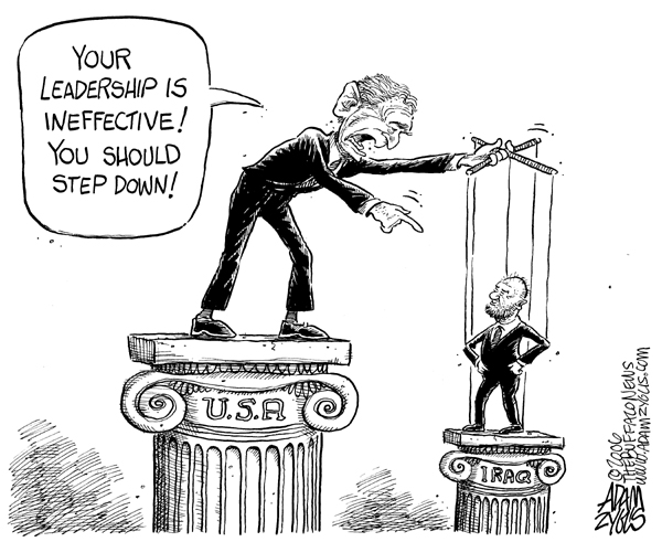 iraq, bush, leadership, puppet