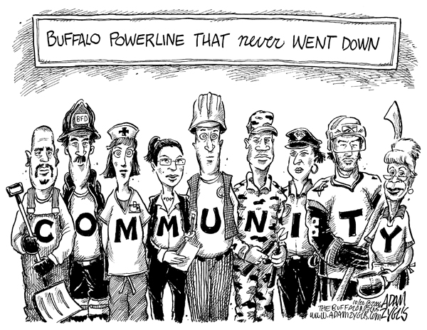 Buffalo; community; powerline