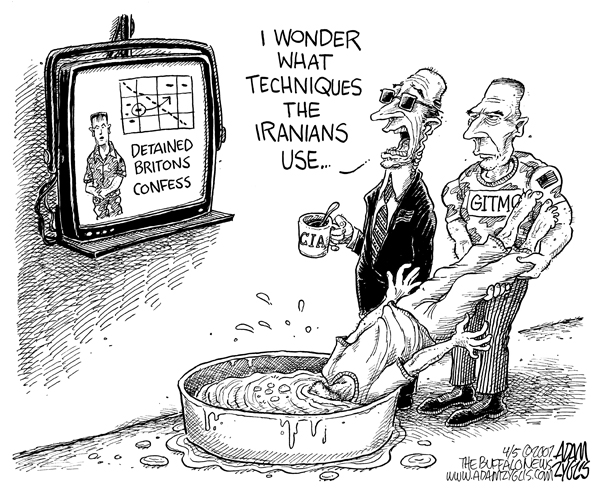 Editorial cartoon published april 5, 2007 : techniques