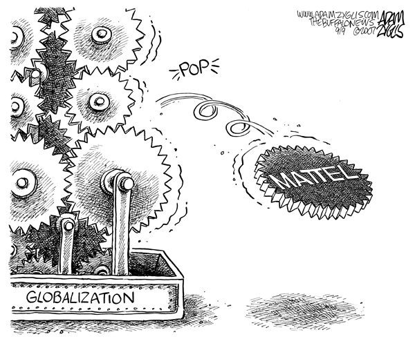 Editorial cartoon published September 9, 2007 : gears