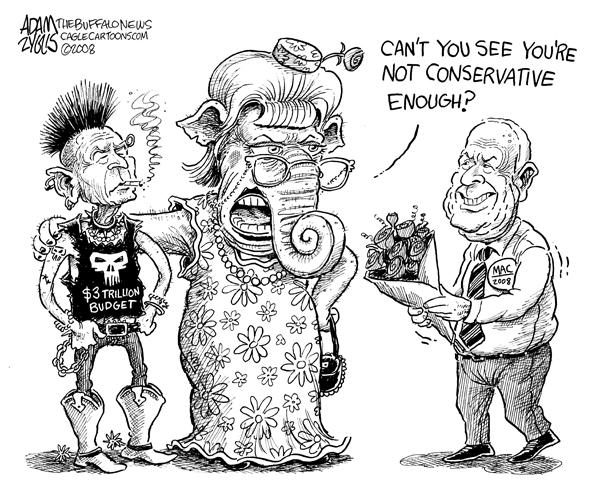 Mccain john 2008 bush conservative gop republican nominee