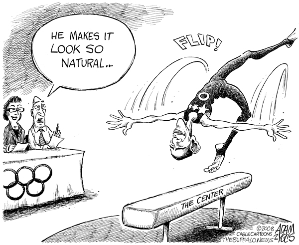 flip flops cartoon. Editorial cartoon published